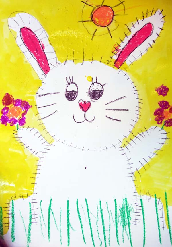 Artary Children Art Painting Furry Rabbit Week 2 Year 2012