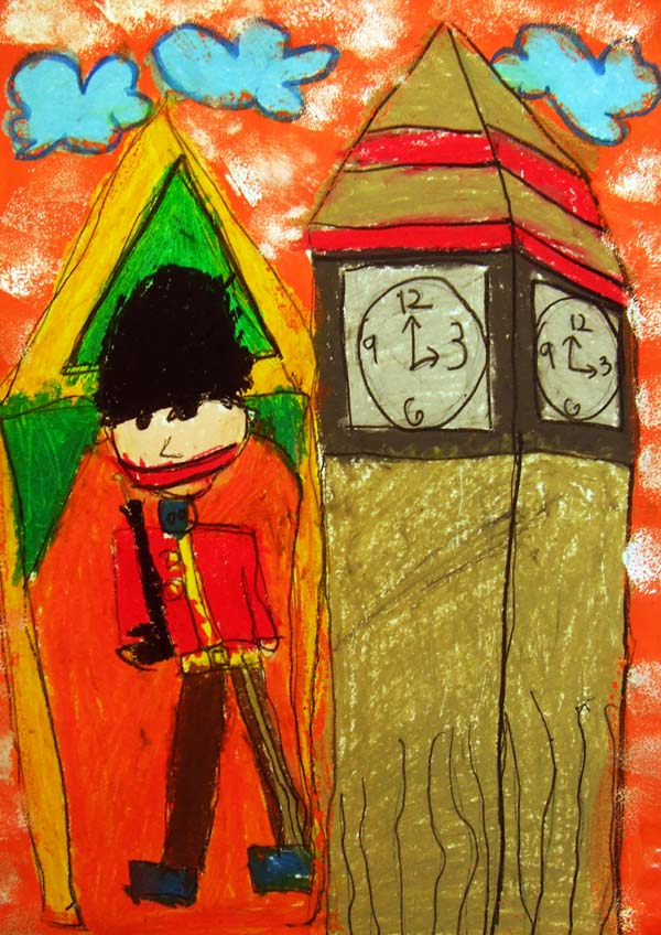 Artary Children Art Painting Nutcracker @ The Big Ben in London Week 4 Year 2012