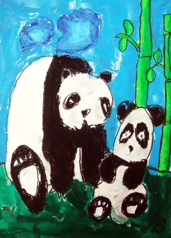 Artary Children Art Painting Butterstick Panda Week 6 Year 2012