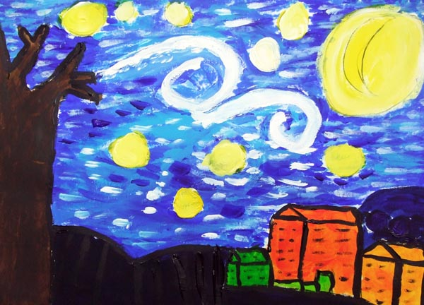 Artary Children Art Painting Starry Starry Night Week 7 Year 2012
