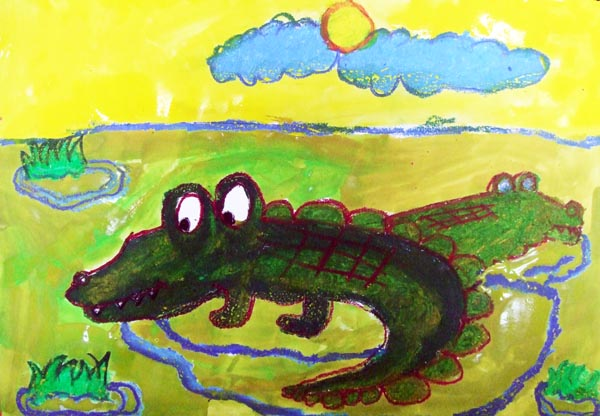 Artary Children Art Painting The Docile Crocodile Week 8 Year 2012