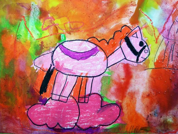 Artary Children Art Painting Mystical Pony Week 9 Year 2012
