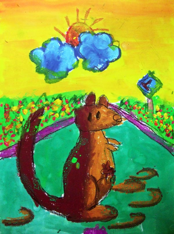 Artary Children Art Painting Kangaroo Pouch Week 14 Year 2012