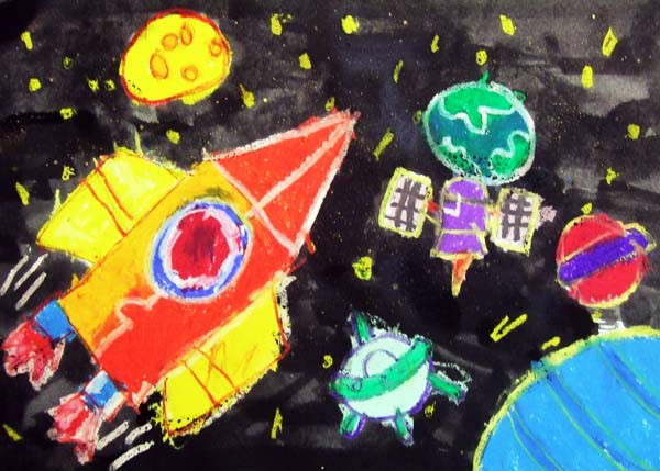 Artary Children Art Painting Outer Space Adventure Week 5 Year 2012