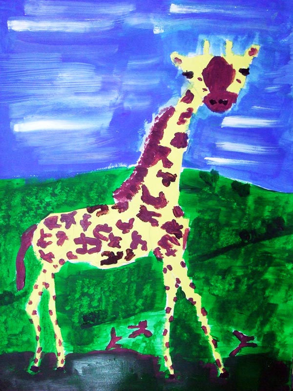 Artary Children Art Painting Graceful Giraffle Week 5 Year 2012