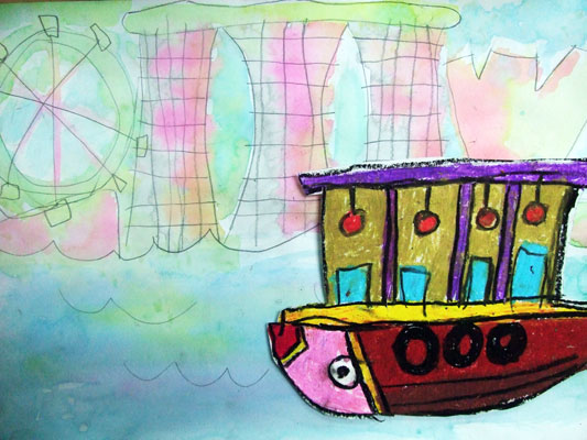 Artary Children Art Painting Singapore River Cruise Week 31 Year 2012