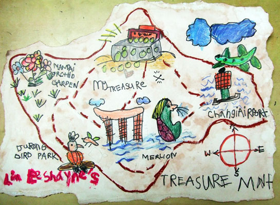 Artary Children Art Painting Treasure Map  Week 32 Year 2012