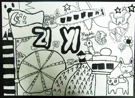 Artary Children Art Painting Doodling Singapore Week 32 Year 2012
