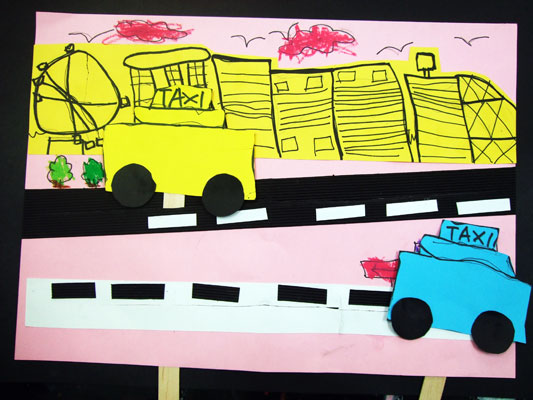 Artary Children Art Painting Singapore Taxi Cabs Week 33 Year 2012