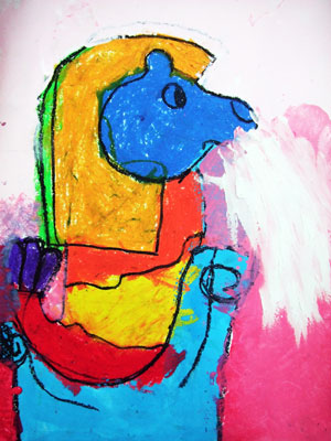 Artary Children Art Painting Rainbow Merlion Week 34 Year 2012