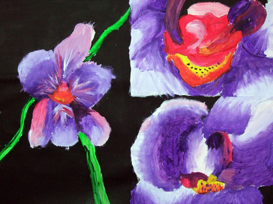 Artary Children Art Painting Orchid Series Painting II Week 35 Year 2012