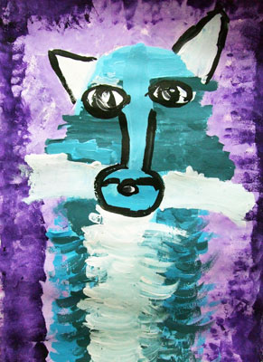 Artary Children Art Painting Arctic Fox Week 35 Year 2012