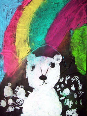 Artary Children Art Painting Chalky Polar Bear  Week 36 Year 2012