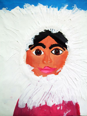 Artary Children Art Painting Eskimo Portrait Week 37 Year 2012