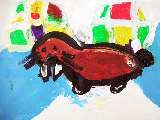 Artary Children Art Painting Walrus Postcard Week 37 Year 2012