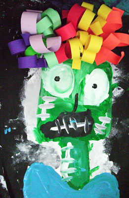 Artary Children Art Painting Afro Frankenstein Week 40 Year 2012