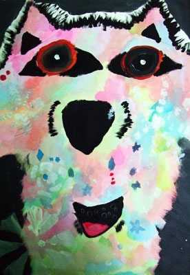 Artary Children Art Painting Arctic Dog Week 39 Year 2012
