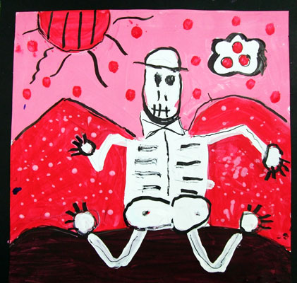 Artary Children Art Painting Silly Skeleton Week 42 Year 2012