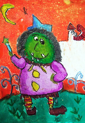 Artary Children Art Painting Witch's Wand Week 43 Year 2012